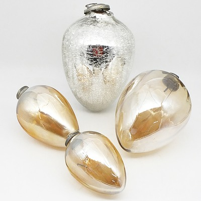Four Teardrop Shaped Baubles