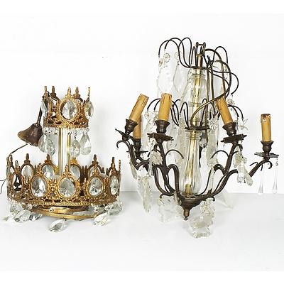 Three Vintage Style Chandeliers