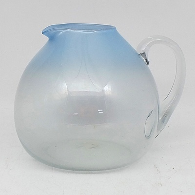 Setsuko Ogishi Art Glass Pitcher 1983