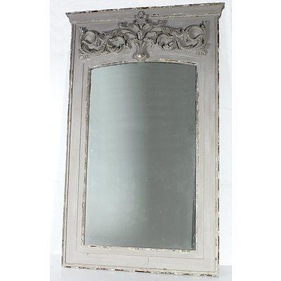 Large Wooden Carved Framed Mirror