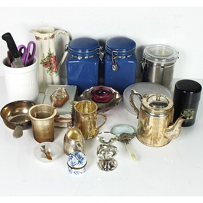 Mixed Lot of Indoor and Outdoor Homewares Including Cut Glass Items, Kitchenware, Garden Ornaments and More