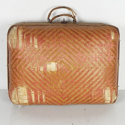 Asian Woven Suitcase