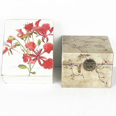 Two Wooden Craft Boxes