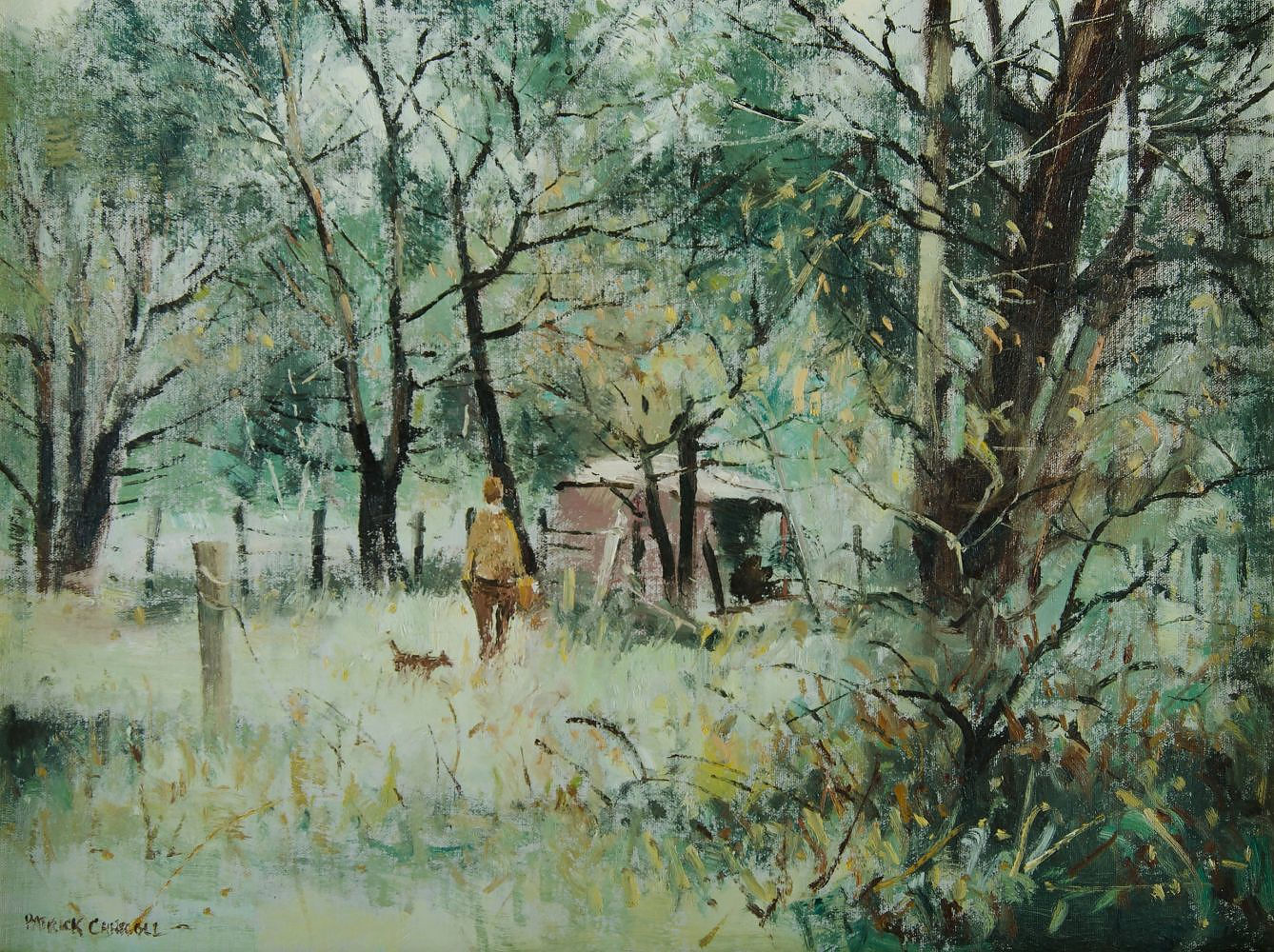 'CARROLL, Patrick (b.1949) On a Bright Bush Morn, Berrima Oil on Canvas on Board'