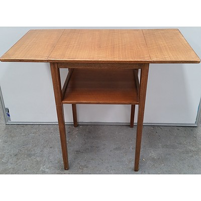 1956 Russell of Broadway Small Walnut Dropside Utility Table