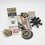 Gents Lorus Wristwatch, Horse Brasses, Grooming Brush Set and More