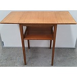 1956 Russel of Broadway Walnut Drop Side Utility Table