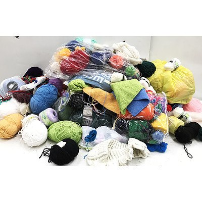 Bulk Lot of Approx 150 - 200 Balls of Wool
