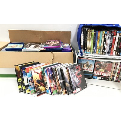 Bulk Lot of Approx 150 DVD Movie & TV Series