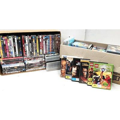 Bulk Lot of Approx 100 DVD Movie & TV Series