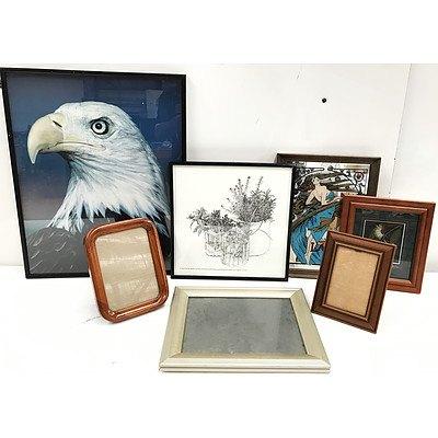 Prints Mirrors & Frames - Lot of 16