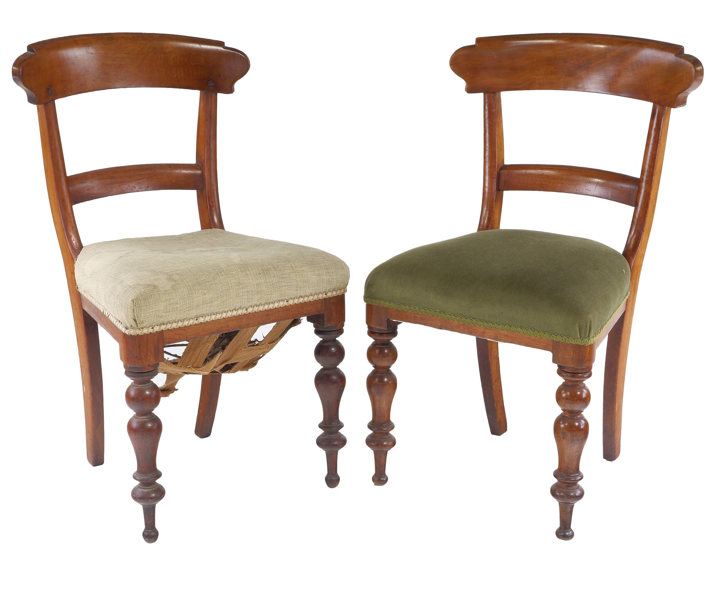 'Two Australian Cedar Barback Chairs ex Gidleigh via Bungendore NSW'