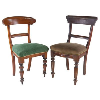 Two Australian Cedar Barback Chairs, Ex Gidleigh Homestead Bungendore NSW