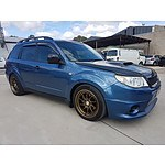 11/2008 Subaru Forester XT MY09 4d Wagon Blue 2.5L