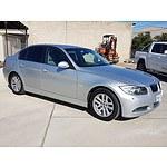 6/2006 BMW 320i Executive E90 4d Sedan Silver 2.0L