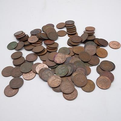 Large Group of Australian Half Pennies