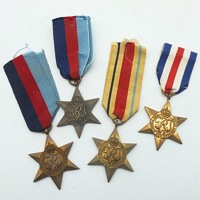 Four Second World War Medals, including France, Germany and Africa Star 1939-1945