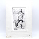 Print of A Seated Sports Figure
