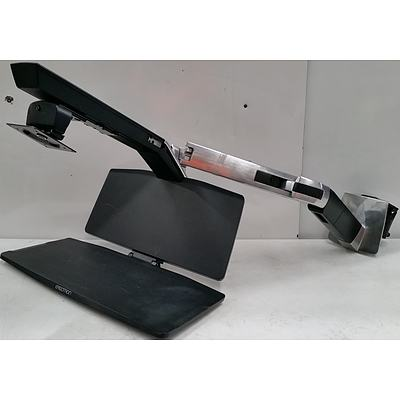 Ergotron WorkFit-A Dual Monitor Standing Desk Arm with Work Surface and Keyboard Platform