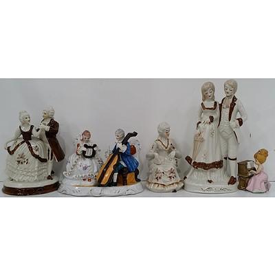 Ceramic Ballroom Figurines - Lot of Five