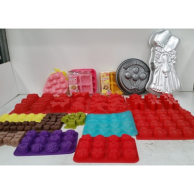 Selection of Silicon Bakeware, Stainless Steel Bowls and Metal Bakeware