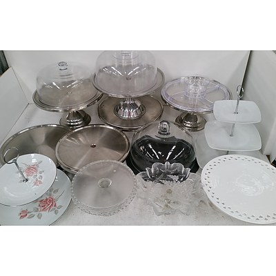 Selection of Cake, High Tea and Sweet Display Stands - Lot of 14