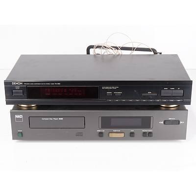 Denon TU-260 Precision Audio Component/ AM-FM Stereo Tuner and NAD compact disc player 5420