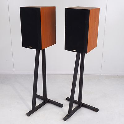 Pair of Paradigm Titan v3 Bookshelf Passive Speakers with Stands