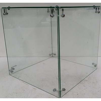 Display Plinth Glass Cases - Lot of Four