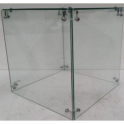 Display Plinth Glass Cases - Lot of Six