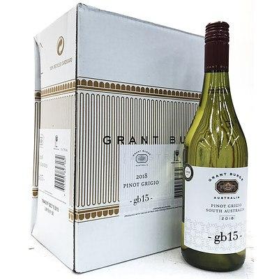 Case of 6x 750ml Bottles 2018 Grant Burge GB15 Pinot Grigio - RRP $65.00