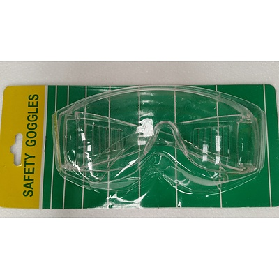 Clear Lens Safety Goggles - Lot of 24 - New