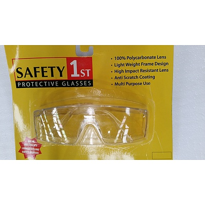 Safety 1st Clear Lens Safety Glasses - Lot of 120 - New
