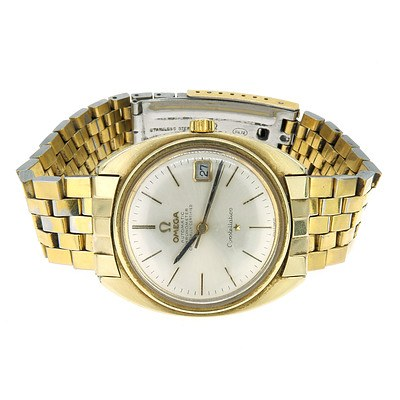 Omega Constellation Gold Plated Automatic Wrist Watch