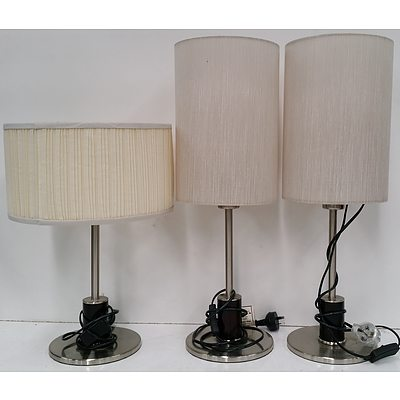 Floor and Table Lamps - Lot of Four