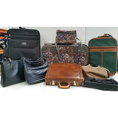 Travel Luggage and Handbags - Lot of Nine