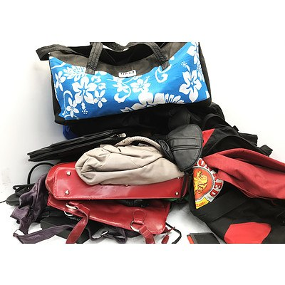 Bulk Lot of Handbags Backpacks & Purses