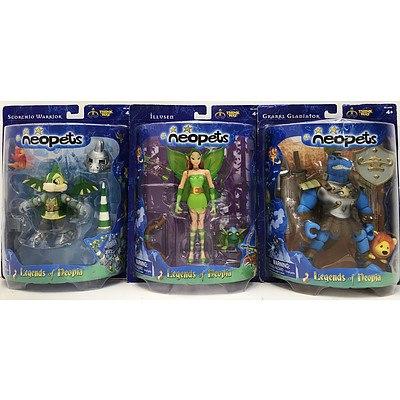 Unopened Neopets Figurines - Lot of 8