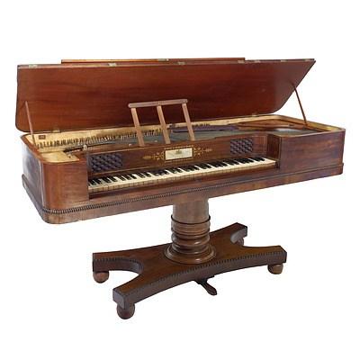 William IV Mahogany Piano Forte, Alexander Ramsey Watlin Maker, London Circa 1835