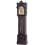 Exceptional Large Edwardian Mappin and Webb Musical Three Train Mahogany Longcase Clock Early 20th Century