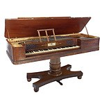 William IV Mahogany Piano Forte, Alexander Ramsey Watlin Maker, London Circa 1835