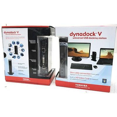 Toshiba dynadock V Universal USB Docking Stations - Lot of 5 - Brand New