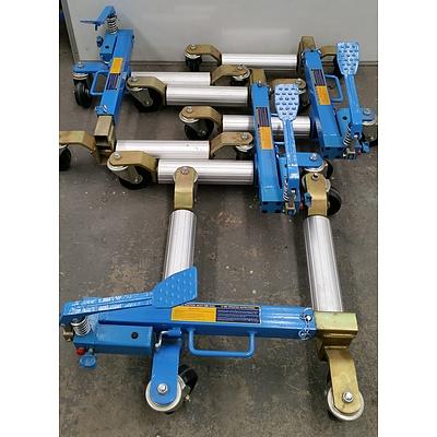 Hafco Hydraulic Motor Vehicle Positioning Jacks - Lot of Four