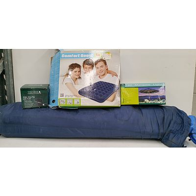 Large Tent Inflatable Mattress, Pump and Marquee Lights