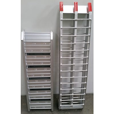 Pair of Folding Aluminium Ramps