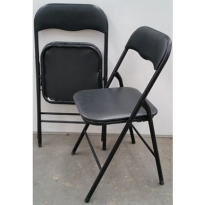 Folding Metal Chairs - Lot of Six