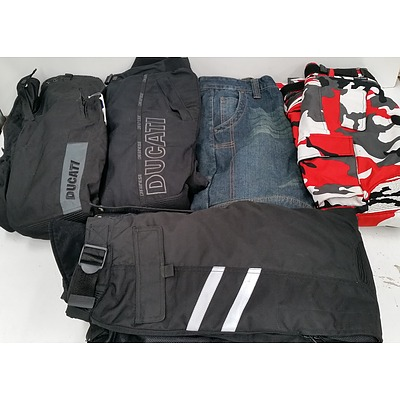 Selection of Men's and Women's Motorcycle Protective Clothing