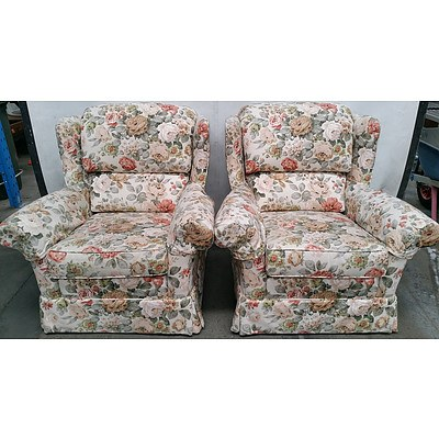 Moran Wingback Armchairs - Lot of Two