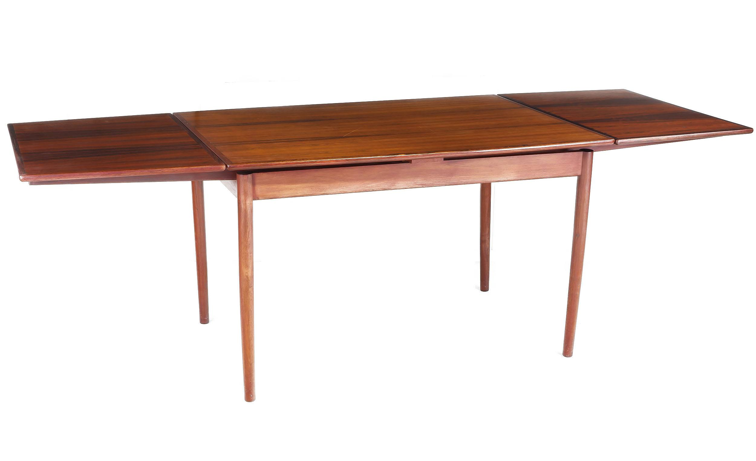 'Danish Rosewood Extension Dining Table'