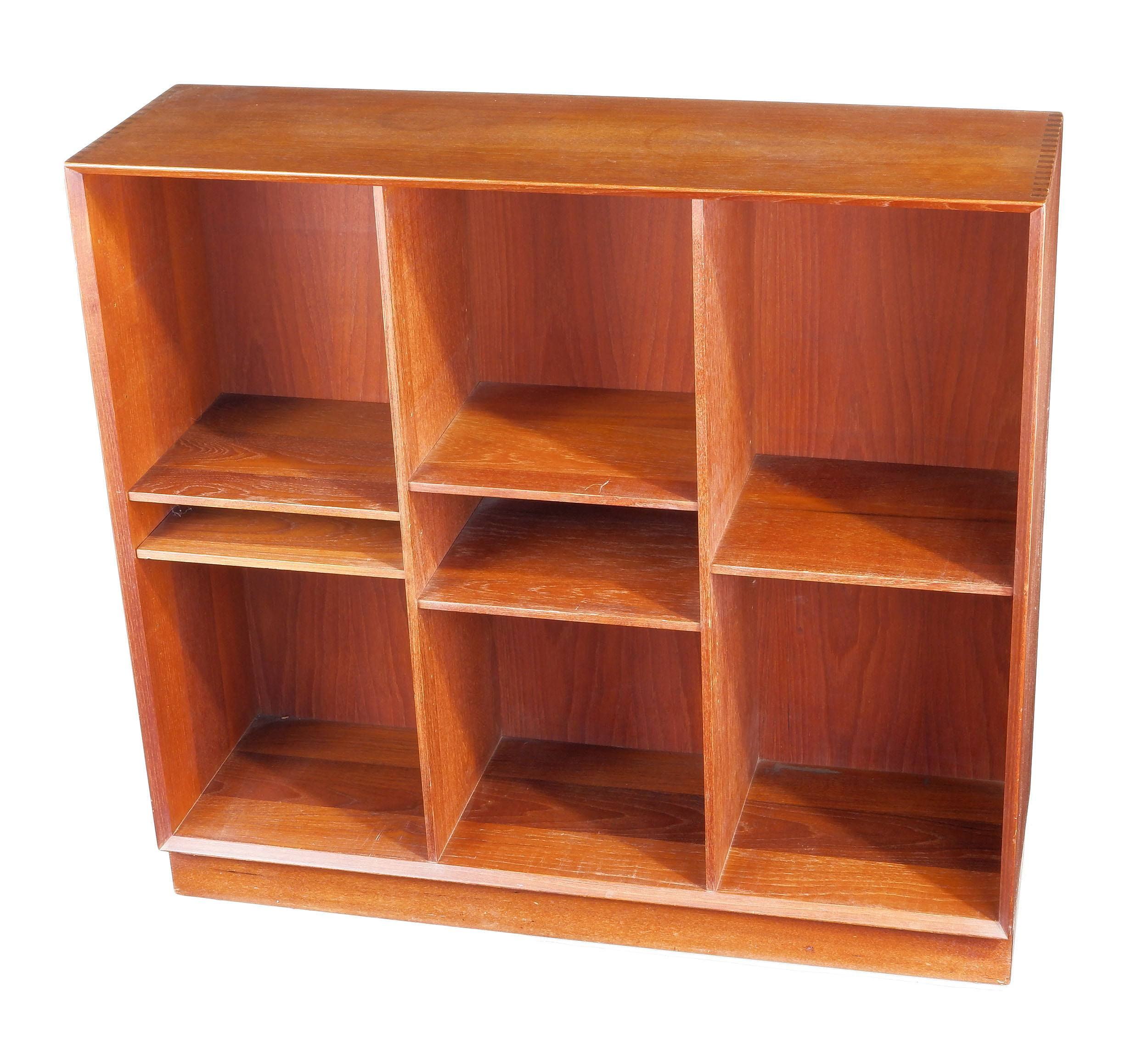 'Danish Teak Bookcase with Exposed Finger Joints'